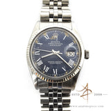 Rolex Rare Blue Datejust Ref 16014 Vintage Watch