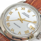Rolex Oysterdate Precision Ref 6466 Roman Dial Boy Size Winding Vintage Watch