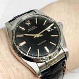 Rolex Oysterdate Precision Ref 6694 Black Dial Vintage Watch (Year 1978)
