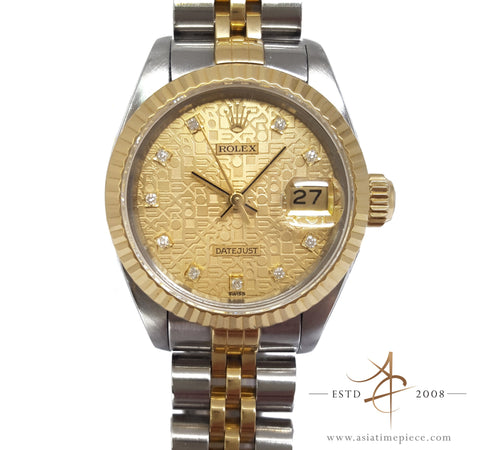 Rolex Datejust Ladies 69173 Diamond Computer Dial (Year 1991)