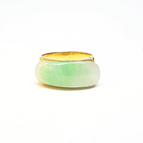 Jade Ring with 20K Gold Band Jewellery