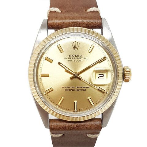 Rolex Vintage Oyster Perpetual Datejust 1601 Wide Boy