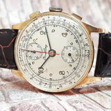Breitling Vintage Chronograph 18K Gold Winding Watch
