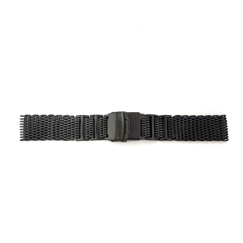 High Quality Black Mesh Watch Bracelet 24mm