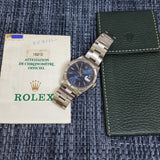 (Sold) Rolex Date 15210 Sunburst Blue Dial Automatic (1997)