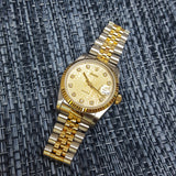 Rolex Diamond 68273 Midsize Gold Steel Vintage Watch (Year 1994)