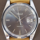 Grey Rolex Oysterdate Precision 6694 Vintage Watch (1974)