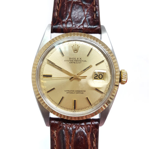 Rolex Datejust 1601 Oyster Perpetual Chronometer (1970) Champagne Vintage Watch - 67/W