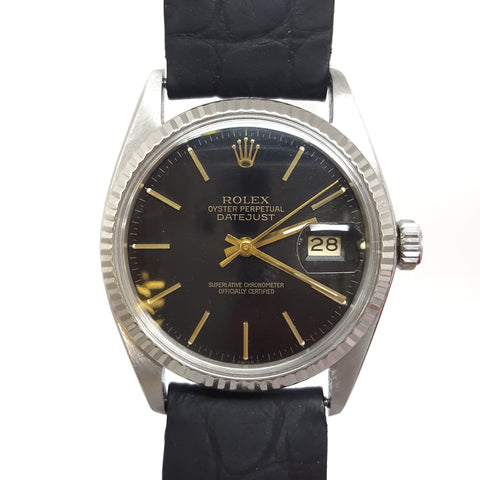 Rolex Black Oyster Perpetual Datejust 16014 Vintage Watch (1978) - 67/X