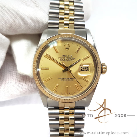 Rolex Datejust 16013 Champagne Dial Vintage Watch (1984)