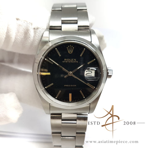 Rolex 6694 Oysterdate Precision Black Dial Vintage Watch (1978)
