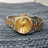 Ladies Rolex Datejust 69173 Diamond Computer Dial Vintage Watch