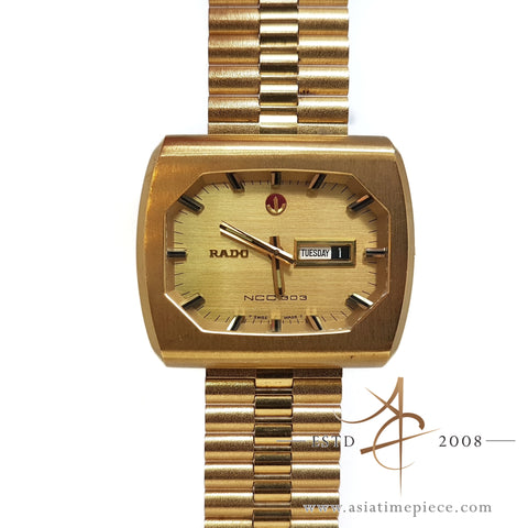 RADO NCC 303 Satin Gold Styled Automatic Watch