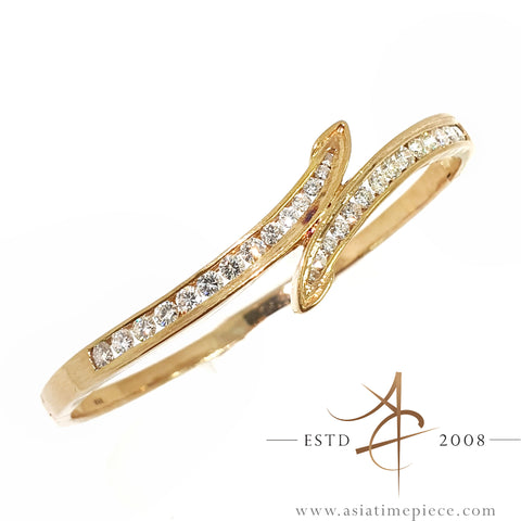 1.3 Carat Diamond 20K Gold Bangle