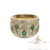 0.54 Carat Emerald Diamond 18K Gold Ring