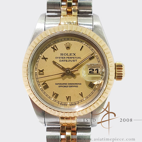 Rolex Ladies Datejust 69173 Gold Roman Dial (1991)