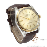 Rolex Datejust 16013 Champagne Dial Fluted Bezel Vintage Watch (1981)
