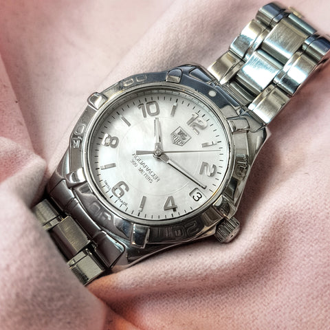 Tag Heuer Aquaracer Mother of Pearl Lady Stainless Steel Watch WAF1311