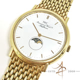 IWC Schaffhausen Moonphase 18k Solid Gold Vintage Quartz Watch