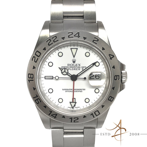 Rolex Explorer II Ref 16570 White Polar Automatic Steel Watch (2002)