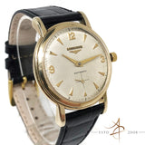 (Sold) Longines Waffle Dial Sub Second 10K Gold Filled Automatic Vintage Watch