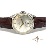 Omega White Sunburst Dial Vintage Watch