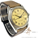 Rolex Datejust 16014 Grey Buckley Dial Vintage Watch (1982)