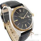 [Rare] Rolex Datejust 1601 Black Doorstop Dial Vintage Watch (1961)