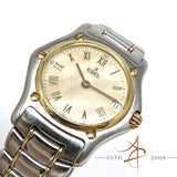 Ebel 1911 Ref 188901 Classic Wave 18K Gold Steel Quartz Ladies Watch