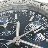 Omega Speedmaster Triple Date 35238000 Blue Dial Automatic Chronograph Watch