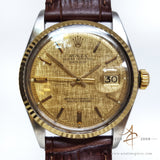 Rolex Linen Dial Vintage Oyster Perpetual Datejust Ref: 1601 (Year 1975)