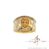 1.65 Carats Yellow Sapphire Stone With Diamond 18K Ring