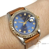 Rolex Oyster Perpetual Datejust Ref 1601 Custom Diamond Dial Bezel (Year 1974)