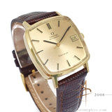Omega Geneve Automatic 18K Yellow Gold Vintage Watch
