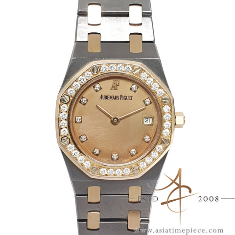 Audemars Piguet Royal Oak Ladies in Rose Gold Tantalum Diamond
