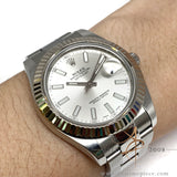 Rolex Oyster Perpetual Datejust II Ref 116334 Silver 42mm Watch