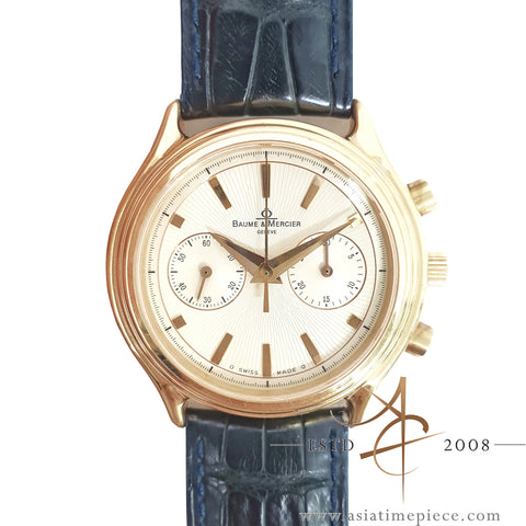 Baume & Mercier Milleis MV045184 18K Rose Gold Chronograph Lemania