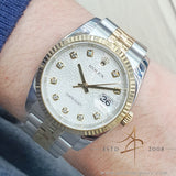 Rolex Datejust 36 Ref 116233 White Computer Diamond Dial