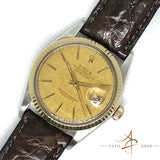 Rolex Oyster Perpetual Datejust Men Ref 16013 Linen Dial Automatic (Year 1988)
