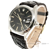 Rolex Oysterdate Precision Ref 6694 Black Dial Vintage Watch (Year 1966)