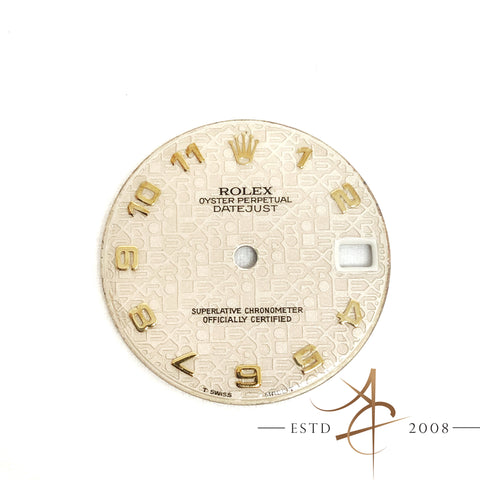 Rolex Computer Monogram Dial Parts for Ref 68273 Boy Size