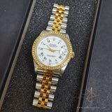 Rolex Diamond Dial Oyster Perpetual Datejust 68273 Midsize Watch (Year 1994)