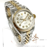 Rolex Datejust Ladies 6917 Custom Computer Diamond Dial Vintage Watch (1982)