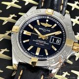Breitling Galactic 41 Ref B49350 Automatic Chronometer Gold Steel Watch (Year 2010)