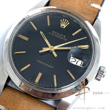 Rolex Precision 6694 Black Dial Vintage Watch (1973)