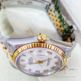Rolex Oyster Perpetual Datejust 16233 White Roman Dial Vintage Watch (Year 1994)