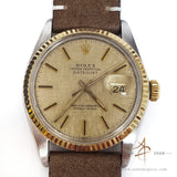 Rolex Datejust 16013 Champagne Linen Dial Vintage Watch (Year 1980)
