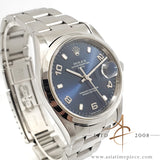 Rolex Date 15200 Sunburst Blue Dial Arabic index (2001)