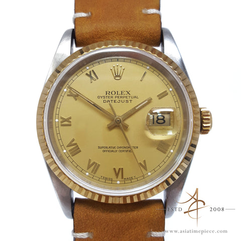 Rolex Roman Dial Datejust 36mm Vintage Watch 16233 (Year 1991)