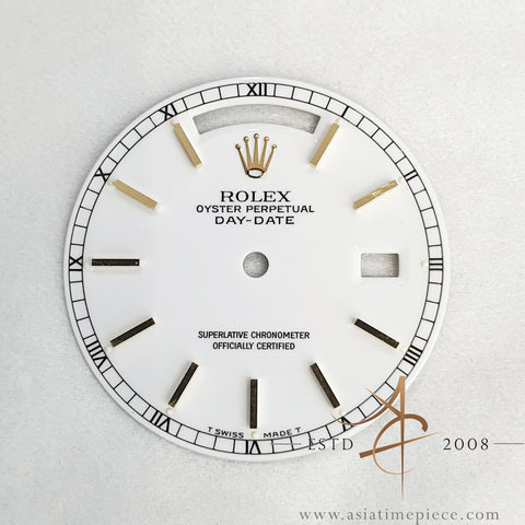 Genuine Rolex White Dial For Day Date President 18038 18238 18078